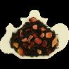 Czarna herbata cejlońska z truskawką, owocami dzikiej róży, płatkami róż, papają, szafranem oraz nutą truskawki z kremem