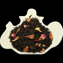 Czarna herbata cejlońska wysokogórska FBOP z pączkami róży