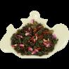 Zielona wysokogórska herbata cejlońska z dodatkiem naturalnych liści mięty, szarłatu i szafranu.