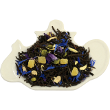 Czarna herbata z dodatkiem ananasa, imbiru, chabru, niebieskiej malwy oraz naturalnym aromatem jabłka i pomarańczy
