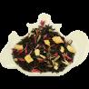 Czarna herbata cejlońska, liściasta, z dodatkiem jabłka, imbiru, trawy cytrynowej, chabru oraz z naturalnym aromatem z imbiru