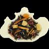 Czarna herbata cejlońska z dodatkiem ananasa, mango, skórki pomarańczowej i bławatka