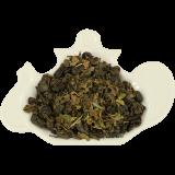 Zielona herbata cejlońska, wysokogórska, wielkolistna z marokańską miętą.