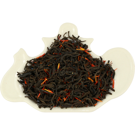 Czarna herbata cejlońska, liściasta z dodatkiem szafranu oraz nuta syropu klonowego
