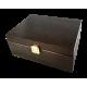 Ekspozytor brązowy drewniany - 60 saszetek
