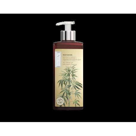 BIOBAZA BODY & HAIR 3 in 1 - żel pod prysznic z olejem konopnym - 400ml