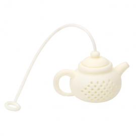 Zaparzacz silikonowy - biały czajniczek