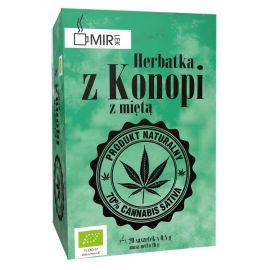 Ekologiczna herbatka z konopi z miętą 20 x 0,8 g