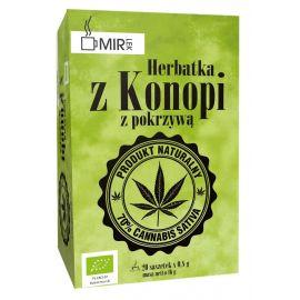 Ekologiczna herbatka z konopi z pokrzywą 20 x 0,8 g