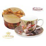 CARMANI - Fliżanka ze spodkiem Renoir Dziewczęta Przy Pianinie - 300 ml