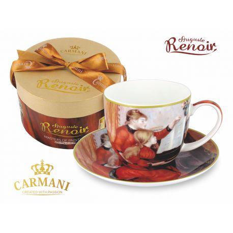 CARMANI - Fliżanka ze spodkiem Renoir Lekcja Gry - 250 ml