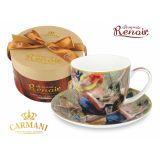 CARMANI - Fliżanka ze spodkiem Renoir Śniadanie Wioślarzy - 300 ml