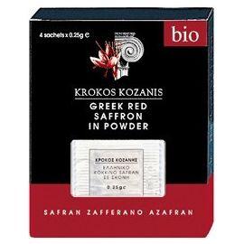 Szafran w proszku BIO 4 x 0,25 g - Krokos Kozanis