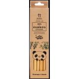 ZUZII - Wielorazowe słomki bambusowe z korą 10 szt. + czyścik