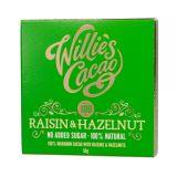 Willie's Cacao - Czekolada 100 % bez dodatku cukru - Rodzynki i Orzechy laskowe - 50 g -
