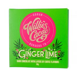 Willie's Cacao - Czekolada 70% Imbir i Limonka - 50 g