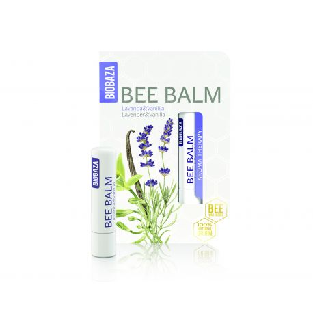 BIOBAZA BEE BALM - sztyft do ust - lawenda i wanilia - 4,5g