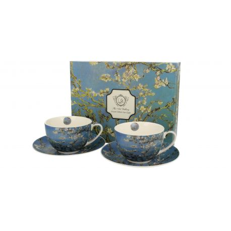 Komplet 2 filiżanki ze spodkiem - Van Gogh Almond Blossom - 280 ml