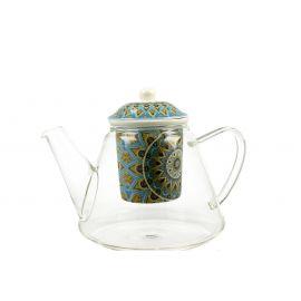Dzbanek szklany z zaparzaczem - TRIBAL - 1200 ml