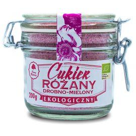 Cukier różany drobno mielony - słoiczek 200 g - Dary Natury