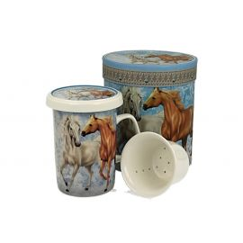 Kubek z zaparzaczem - HORSES - 320 ml