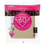 Hario filtry papierowe Misarashi brązowe V60-02 - 100 szt.