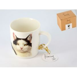 Kubek - Black & White Cat - 400 ml