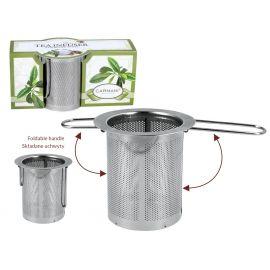 Zaparzacz stalowy ze składanymi uchwytami - Carmani