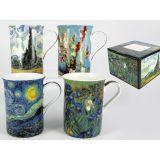 Ekskluzywny komplet 4 kubków - Van Gogh - 250 ml
