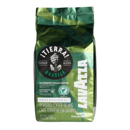 LAVAZZA Tierra Brasile Premium Arabica 70% Robusta 30% - ziarno - 1000 g