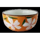 Czarka do herbaty pomarańczowa - kwiatki