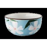 Czarka do herbaty błękitna - kwiatki
