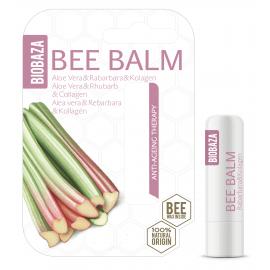 BIOBAZA BEE BALM - sztyft do ust - Odmładzająca terapia z aloesem, rabarbarem i kolagenem
