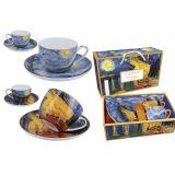 Komplet 2 filiżanek ze spodkami - Van Gogh Starry Night & Caffe Terrace - 250 ml