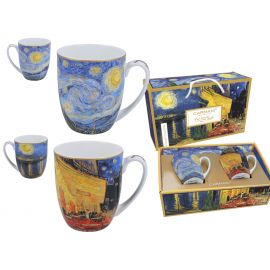 Komplet 2 kubków - Van Gogh Starry Night & Caffe Terrace - 450 ml