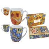 Komplet 2 kubków - Van Gogh Sunflowers & Irises - 450 ml