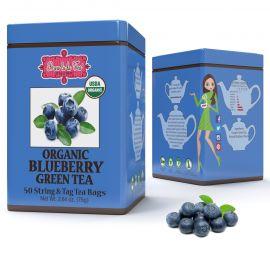 Brew La La - ORGANIC BLUEBERRY GREEN TEA - w saszetkach 50 x 1,5 g