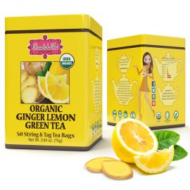 Brew La La - ORGANIC GINGER LEMON GREEN TEA - w saszetkach 50 x 1,5 g
