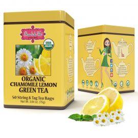 ORGANIC CHAMOMILE LEMON GREEN TEA - w saszetkach 50 x 1,5 g