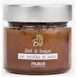 Bio miód nektarowo-spadziowy leśny z ziarnami kakao - 250 g - Muria