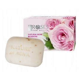 Nature of Agiva - kremowe mydło różane z płatkami róży - 70 g
