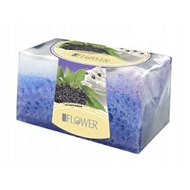 Nature of Agiva - Czarny Bez i Jogurt - mydełko z gąbką - mydło - 70 g