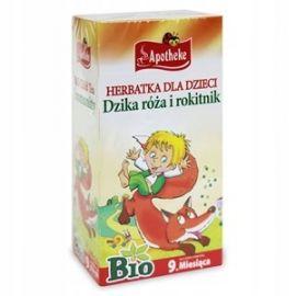 Apotheke - ekspresowa herbatka dla dzieci z dziką różą i rokitnikiem - 20x1,5 g