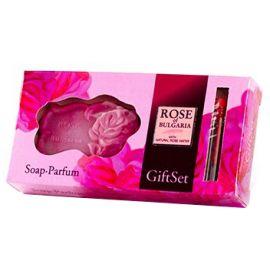 Bio Fresh - Zestaw prezentowy - mydełko różane 50 g + perfumy 2,1 ml