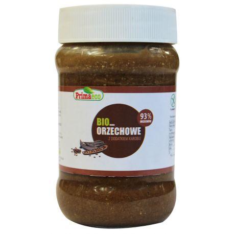 Masło orzechowe z dodatkiem karobu - 340 g - PRIMAECO