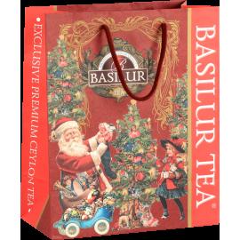 Torba prezentowa świąteczna - Basilur - 28x23x12 cm