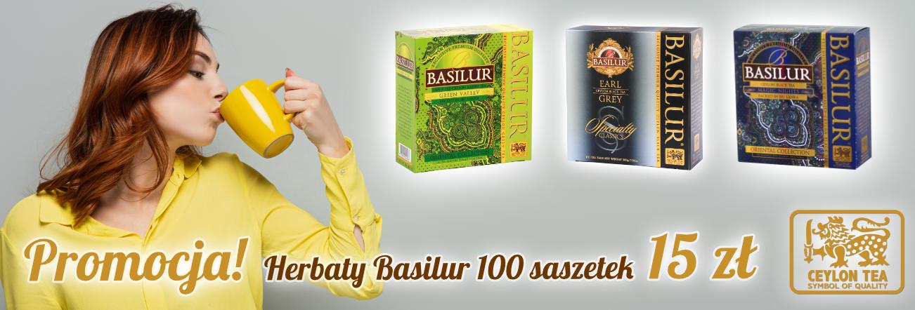 Promocja - herbat Basilur 100 saszetek - 15 zł!